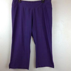 LucyTech Wide Leg Capri Workout Pants Purple XL